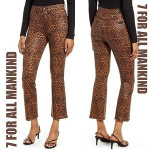 7 For All Mankind High Waist Kick Leopard Jeans